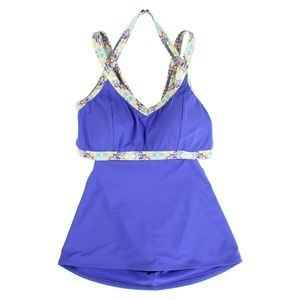 CALIA by Carrie Underwood Tankini Top Blue Violet